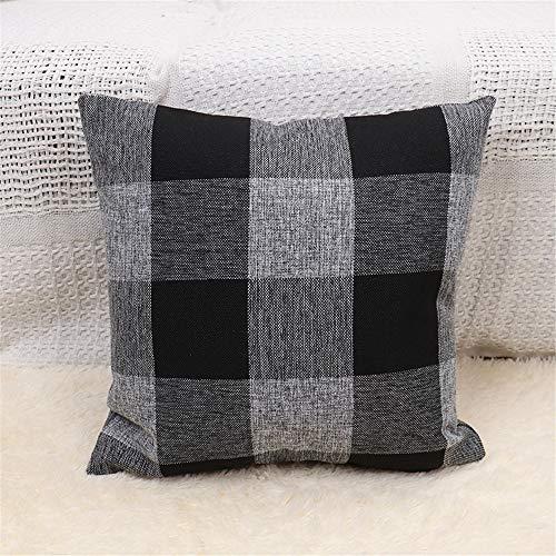 DuangDuang Lattice pillowcase simple home sofa pillowcase car seat cushion lumbar pillowcase