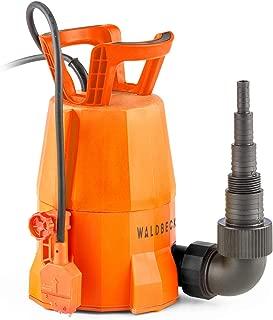 Waldbeck Nemesis T400S Bomba - Bomba Sumergible- Bomba para el jardín- 400 W- 7000 litros-h- Potente- Altura de extracción de 7 m- Incluye Adaptador para Distintas mangueras- 3-6 kg- Naranja