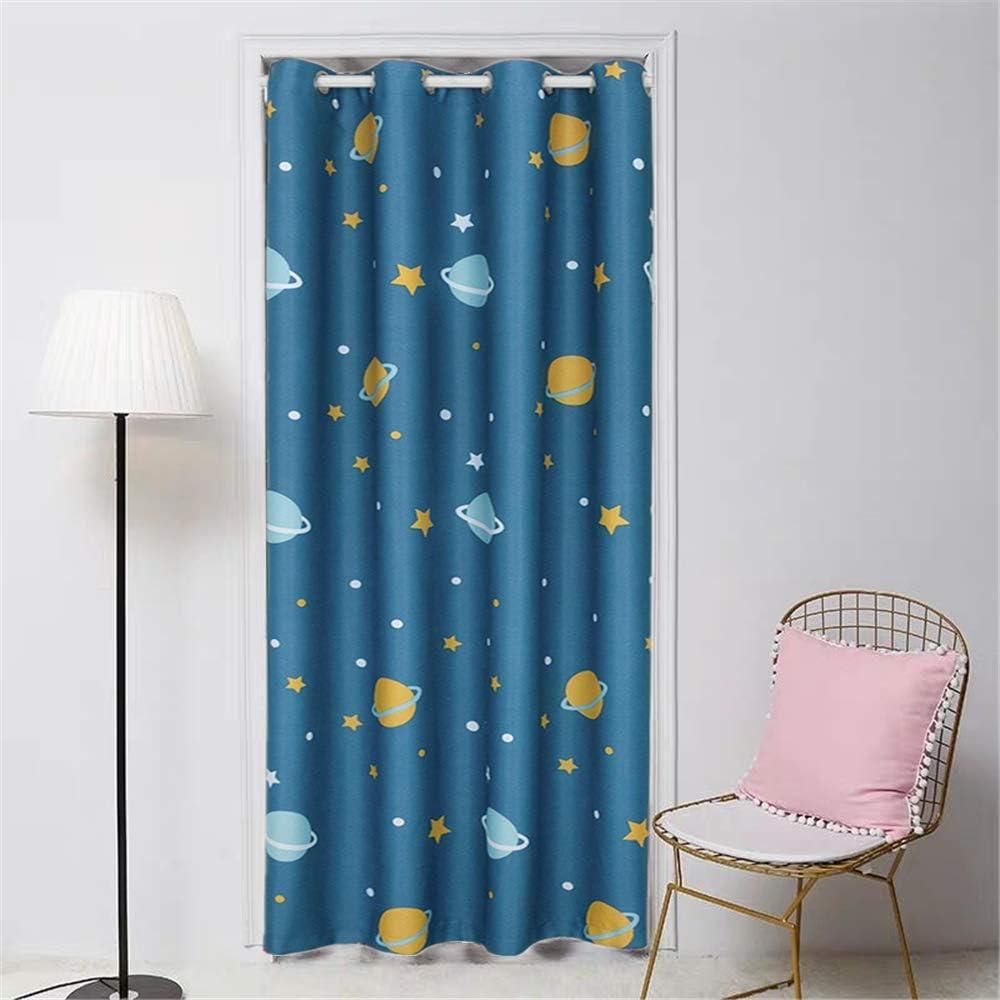 Doorway Blackout Curtains Grommet Drapes for Door Bath Planet St