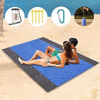 Fyore Alfombras de Playa Manta de Picnic Impermeable Cubierta de Suelo Ester Colchón de Camping Lonas Impermeables Exterior para Toldos Tienda de Campaña Jardín Parque 200x140cm