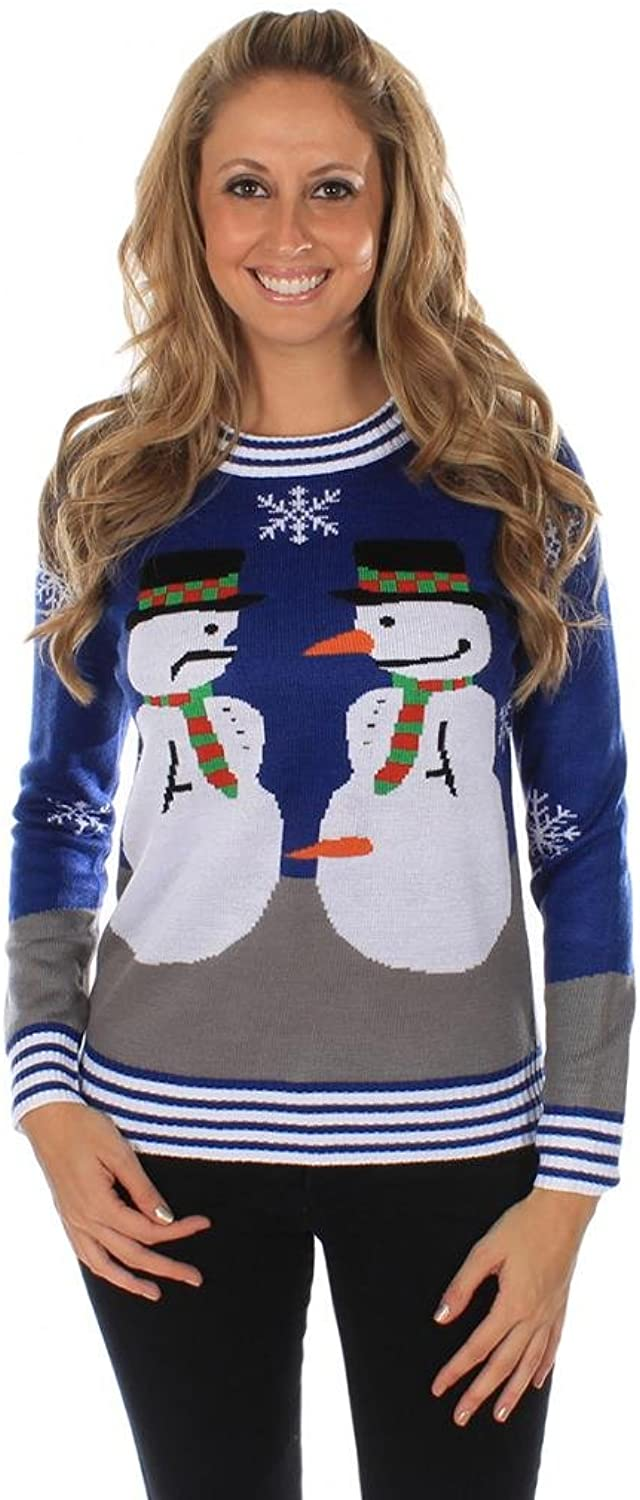 Women's The Snowman Nose Thief Ugly Christmas Sweater