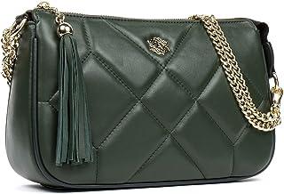 ANA LUBLIN Women Leather Crossbody Bag Designer Quilted Shoulder Bag Small Handbag Purse for Ladies