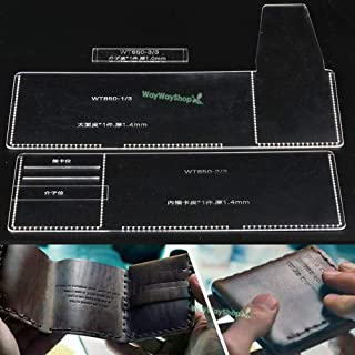 Dalab Men Trifold Wallet Acrylic 850 Templates Leather Craft Patterns DIY Models Hobby