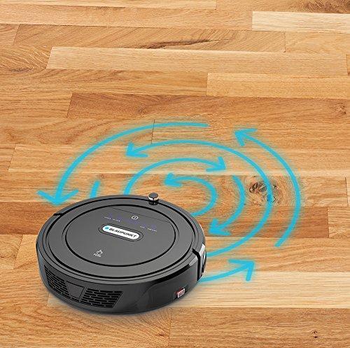 Blaupunkt Saugroboter mit Wischfunktion (Automatischer Staubsauger Roboterstaubsauger) Bluebot, HEPA-Filter & Nasswischfunktion für Allergiker, Fallschutz, Ladestation, Schwarz, 35 Watt - 3