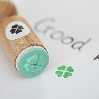 Shamrock Motif Stamp approx Stamp Good Luck for You 48 x 28 mm \u2022 Wood Stamp Scrapbooking Children/'s Stamp Teacher \u2022 Clover Shamrocks