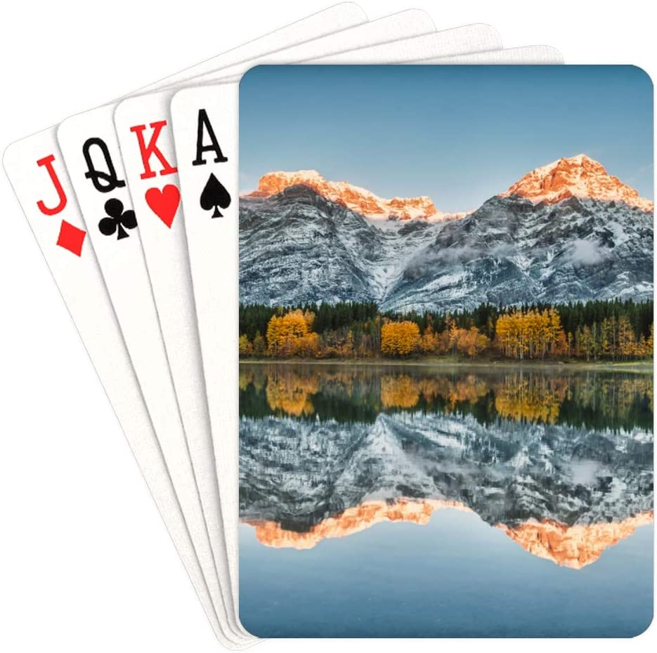 WUTMVING Child Playing Cards Sunrise On National in Kansas Seasonal Wrap Introduction City Mall Morin P Lake
