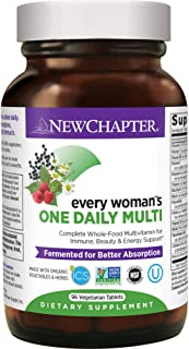New Chapter Women's Multivitamin, Every Woman's One Daily, Fermented with Probiotics + Iron + B Vitamins + Vitamin D3 + Organic Non-GMO Ingredients - 96 ct (Packaging May Vary)