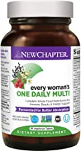Women's Multivitamin + Immune Support – New Chapter Every Woman's One Daily, Fermented with Whole Foods & Probiotics + Iron + B Vitamins + Organic Non-GMO Ingredients - 120 Ct (Packaging May Vary)