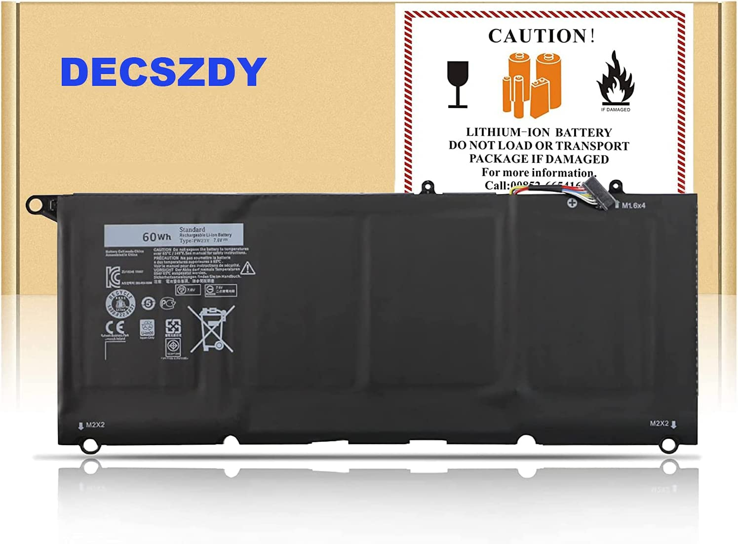 Type PW23Y Laptop Battery Limited time for free shipping Compatible with XPS SEAL limited product 9360 Noteb 13 Dell