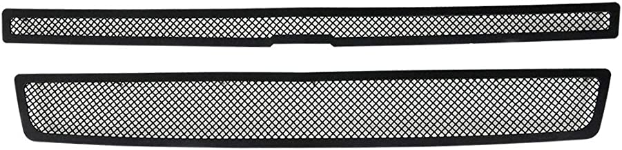 EAG Black Stainless Steel Overlay Mesh Grille 2PC Insert Fit for 07-14 Chevy Tahoe/Avalanche/Suburban 1500/Suburban 2500