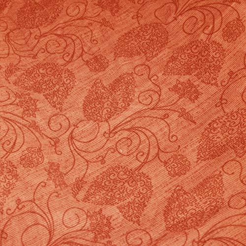 Russo Tessuti Copridivano Copri Divano Sofà Cover Linea Ambro Elasticizzato Fantasia Ray One-RS 400 Arancione-Coppia Copricuscini Seduta