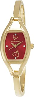 Sonata Analog Red Dial Women's Watch -NK8114YM01