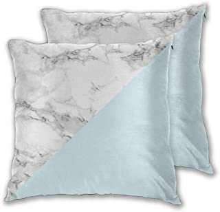 Cushion Covers Pack of 2 Cushion Covers Throw Pillow Cases Shells for Couch Sofa Home Decor Marble Pastel Blue Esg ...