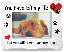 Pet Memorial Ceramic Picture Frame - You Have Left My Life But You Will Never Leave My Heart - Loss of a Pet Gift - Pet Photo Frame - Pet Sympathy Gift - in Memory of a Pet