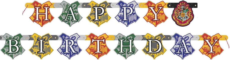 COOLMP – Set di 12 striscioni Happy Birthday Harry Potter 182 cm – Taglia Unica – Decorazione Accessori per Feste, Animazione, Compleanno, Matrimonio, Eventi, Giocattoli, Ptuttioncino