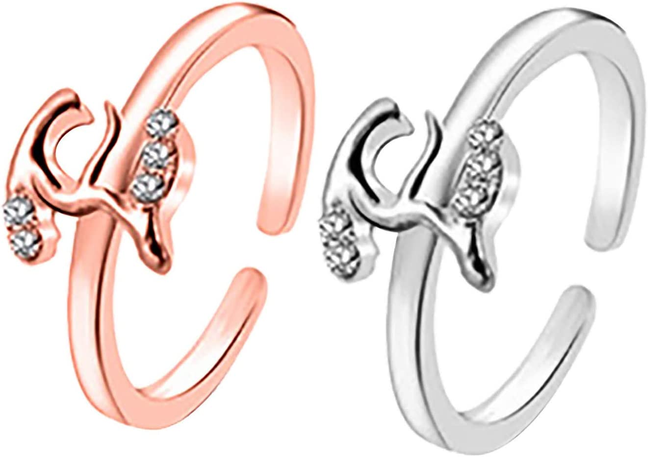 1PC Personalized Initial Letter Ring Open Ring Women Statement Rings Party Jewelry A-Z 26 Letters Initial Name Rings for Women Men,Diamond or Twisted Style