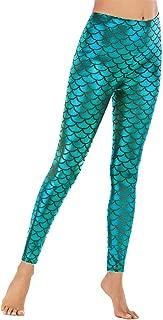 Mermaid Leggings Fish Scale Elestic Waist Pants