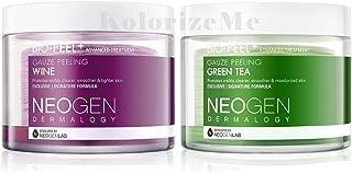 (Pack of 2) Neogen Dermalogy 2017 New Version Bio-Peel Gauze Peeling-Multi Combo (Wine & Green Tea)