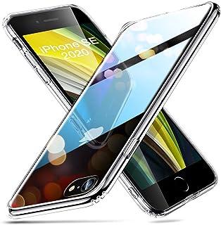 ESR Funda Transparente HD para iPhone SE [Resistente Arañazos][Resistente Amarilleo][Parte Trasera Cristal Templado 9H][Marco Parachoques TPU Flexible][Absorción Golpes][Funda iPhone SE] Transparente