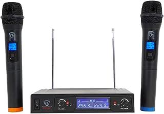 Rockville RWM132V VHF Wireless Dual Handheld Microphone System/High Sensitivity