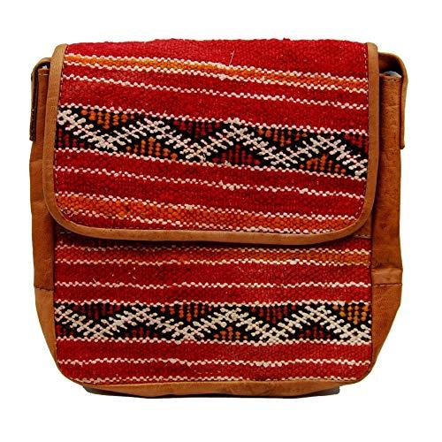 Etnico Arredo Bolso bandolera auténtica piel africana Marruecos cuero vintage 0705201108