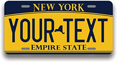 4 Holes ZENPREI Brown Horse License Plate for Decorative Car Front,Vanity Tag,Metal License Plate,Aluminum Novelty License Plate,6 X 12 Inch