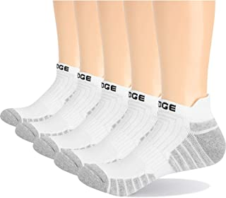 YUEDGE Men's Rich Cotton Towelling Cushioned Sports Trainer Ankle Socks Athletic Low Cut Running Socks 5 Pairs