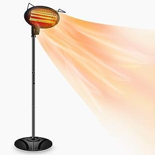 Patio Heater-1500W Outdoor Heater,Outdoor Patio Heater,Outdoor Electric Heater,Infrared Heater,w/3 Power Levels Patio Heat...