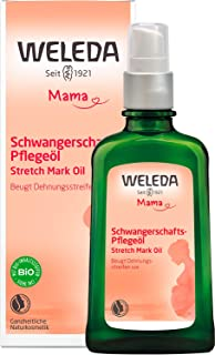 WELEDA Mama Schwangerschafts-Pflegeöl - Naturkosmetik Massage Schwangerschaftsöl zur Vorbeugung von Schwangerschaftsstreif...