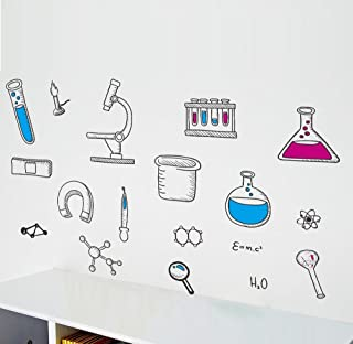 BIBITIME Science Laboratory Wall Decals Vinyl Chemical Element Tool Stickers for School Classroom Nursery Bedroom Children...