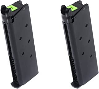 Airsoft Shooting Gear APS 2pcs 25rd Mag Military Style Turbo Magazine for Tokyo Marui 1911 APS Marcux Crxius GBB Pistol