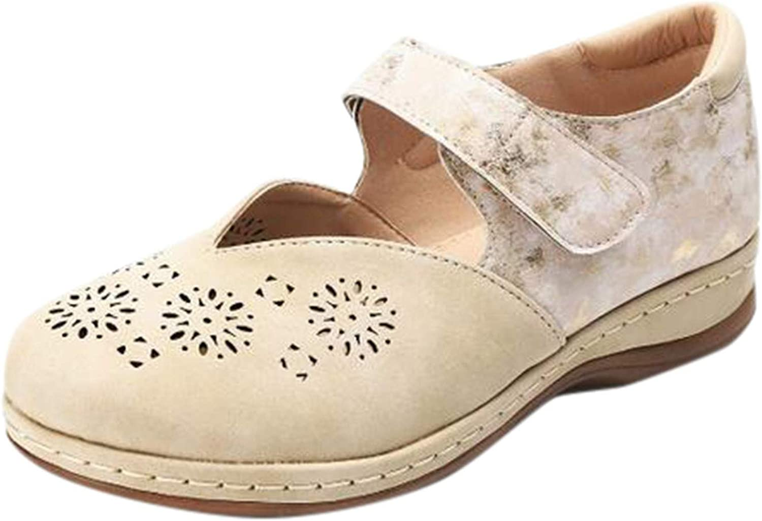 Max 70% OFF FAMOORE Women's Casual Hollow Heel Solid Bag Toe Round Colo Ranking TOP20