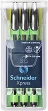 Schneider Xpress Fine Liner 0.8 mm Porous Point Pen 3-Pack, Black (190094)