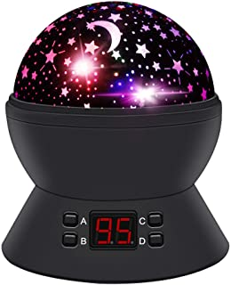 ANTEQI Star Sky Night Lamp,Baby Lights 360 Degree Romantic Room Rotating Cosmos Star Projector with LED Timer Auto-Shut Off,USB Cable for Kid Bedroom,Christmas Gift