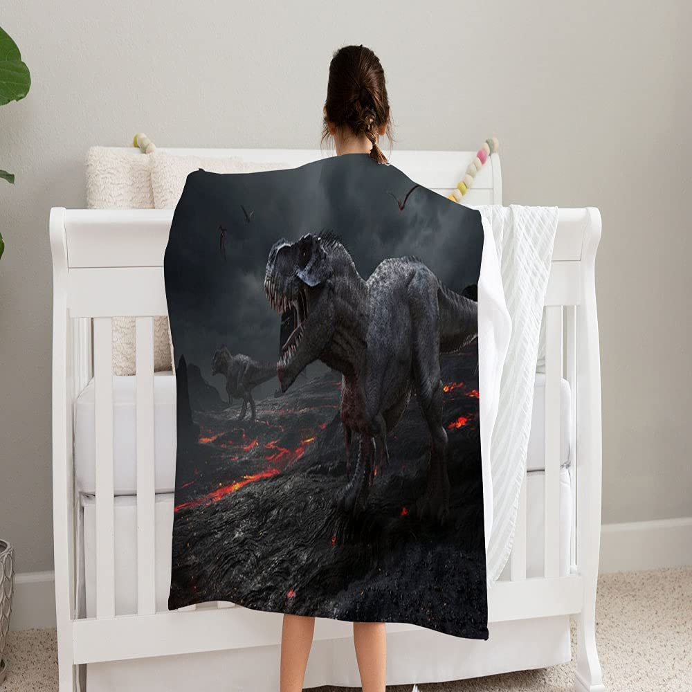 Max 75% OFF LPVLUX Rendering Extinction Dinosaurs Limited price Blanket Super Soft and Co