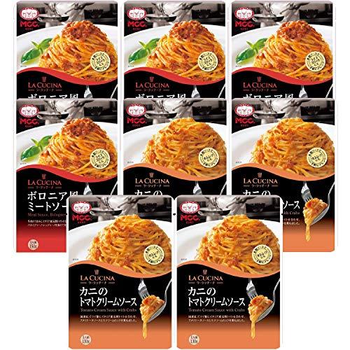 【セット商品】MCC パスタソース ミートソース4個&トマトクリームソース4個 2種アソート