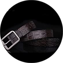 2019 fashion designer 100% men's Genuine Leather Crocodile skin belt male buckle luxury brand brown belts for men