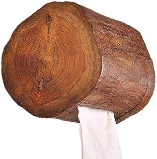 WC-papier houder Houten At The Wall, zijdepapier houder, badkamer handdoekhouder stand,Brown