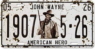 Midsouth Products John Wayne License Plate - John Wayne 1907