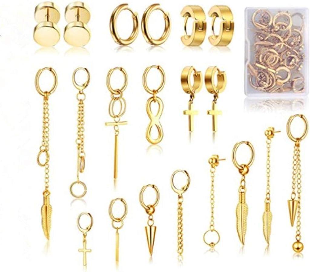20 Max 57% OFF Pieces Hoop Dangle Max 89% OFF Earrings Pendant Ea Hinged Stainless Steel