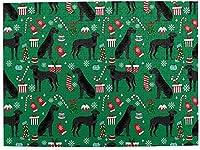 ブラックグレートデーンクリスマス500ピースジグソーパズル大人用キッズゲームおもちゃギフト壁の装飾
