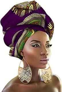 Chien TJ05 Multi-Color Urban Ladies Hair Accessory Headband,Bazin Wax Print Wrap Tie Scarf, African Head Scarf Gele Ipele ...