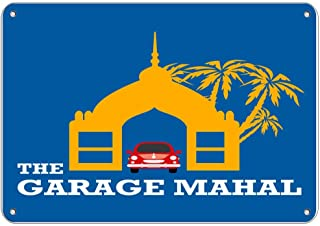 Guadalupe Ross Metal Tin Sign The Garage Mahal Parking Sign Wall Decor Sign 12x8 Inches