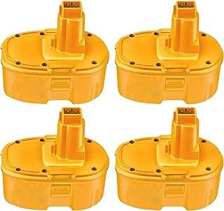 4 Packs 4000mAh Replacement for Dewalt 18V Battery XRP DC9096 DC9099 DC9098 DW9099 DW9098 388683-12 651034-01 DE9039 DE9095 DE9096 DE9098 DW9096 DW9095 Batteries