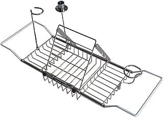 バスタブトレー ブックスタンド付き バスタブラック バスブックスタンド バステーブル バスタブトレー 伸縮式 お風呂用 バスグッズ 伸縮式61cm~85cm ステンレス
