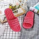 Zapatillas Casa Chanclas Sandalias Chanclas Antideslizantes Unisex, Chanclas Planas, Zapatillas De Interior, Zapatillas Cómodas, Zapatos Suaves para Mujer-Rouge_36