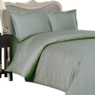 8PC ITALIAN 1000TC Egyptian Cotton GOOSE DOWN COMFORTER Bed in a Bag - Sheet , Duvet California King Sage St