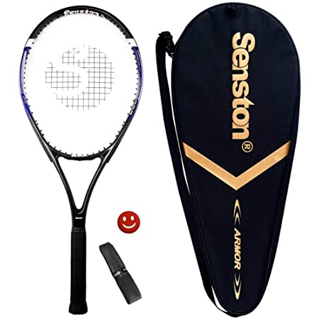 Senston Tennis Racket 27'' for Adults Aluminum Alloy Tennis Racquet Set with Premium Carry Case, Including 1 Overgrip + 1 Vibration Dampeners
