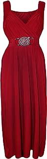 Women's Plus Size Buckle Maxi Dress - Red - US 16-18 (UK 20-22)
