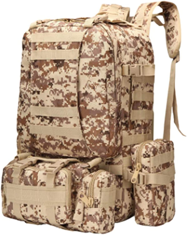 DYNWAVE Travel Backpack 50L Waterproof Outdoor Rucksack Hiking Knapsack Daypack Multi-Functional Bag for College Men Women (8 colors)